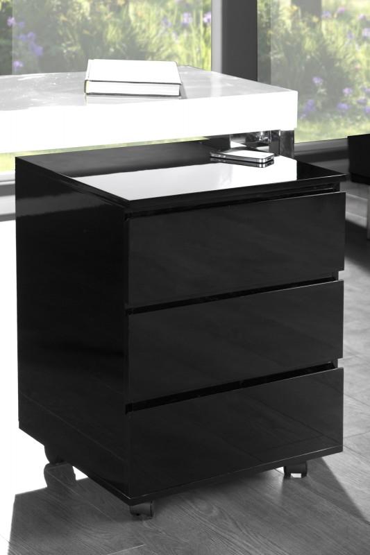 Malý kontajner pod písací stôl Lumina čierny