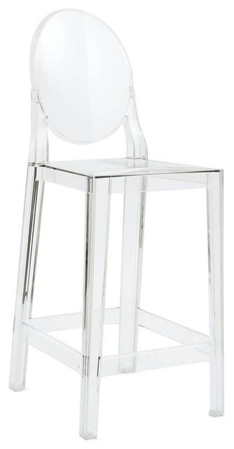 Barová stolička VICTORIA transparentné - polykarbonát