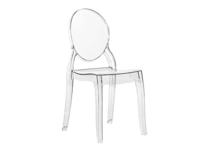 Stoličky ELIZABETH transparentná - polykarbonát