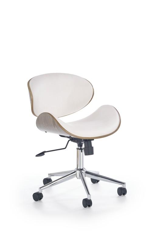 ALTO kancelárske kreslo biele - svetlý dub
