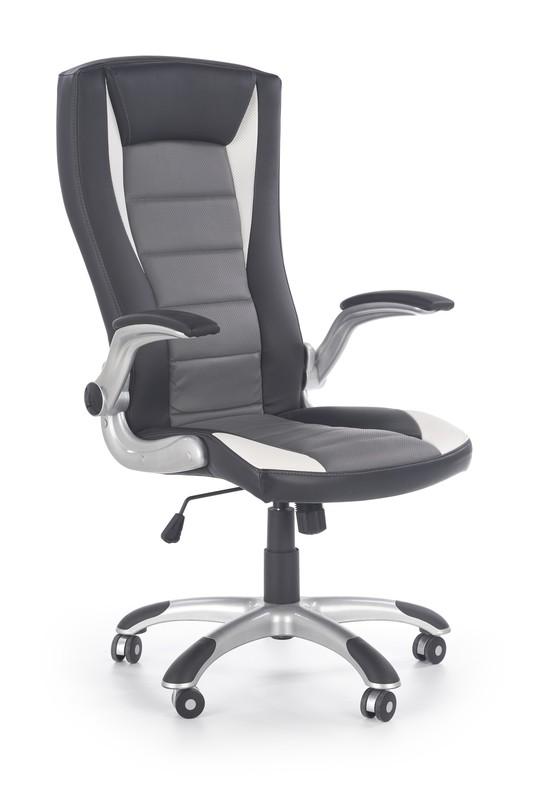 Upset kancelárske kreslo čierne / biele / sivé