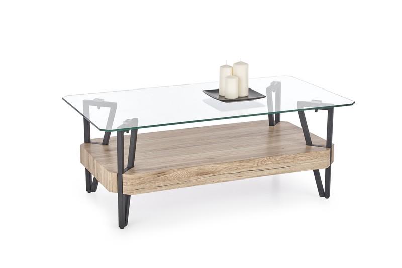 ABRILLA stolík dub san remo / čierny