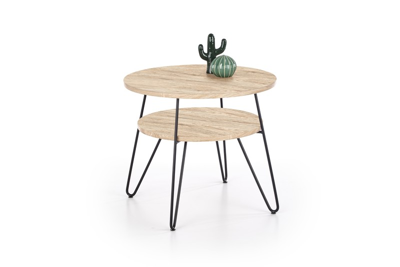 EZRA 2 stolík dub san remo / čierny