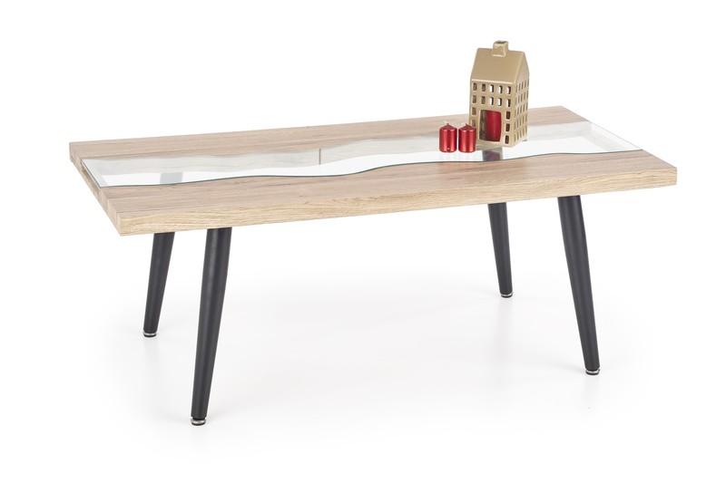 MALIKA stolík dub san remo / čierny
