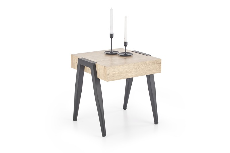 SPOT stolík dub san remo / čierny