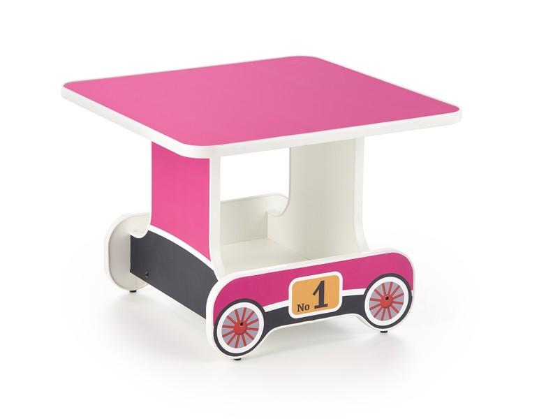 Lokomo stolík ružový