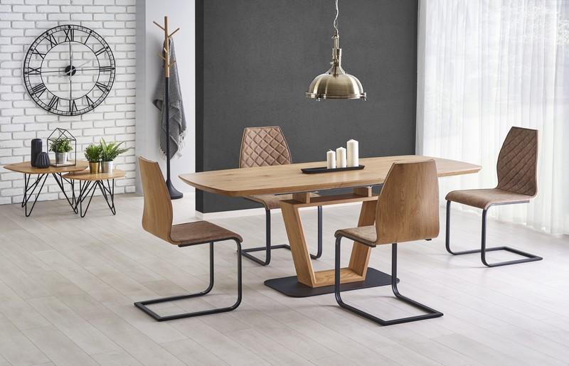 BLACKY stôl rozkladací zlatý dub