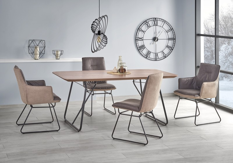 HOUSTON stôl orech / čierny