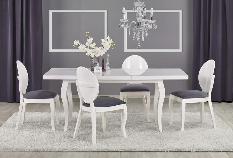 MOZART 140-180 / 80 stôl biely