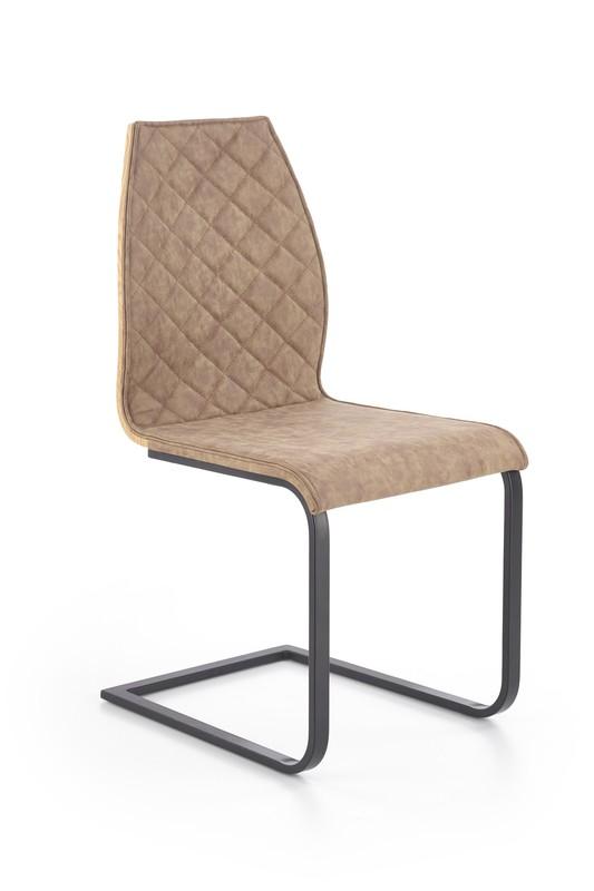 Halmar K265 stoličky čierna / hnedá / dub ťavie
