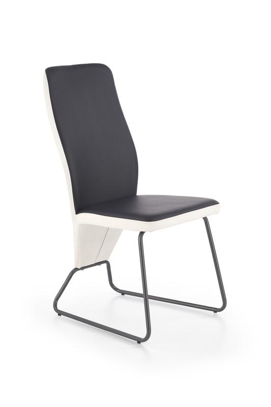 Halmar K300 stoličky zadná časť - biela, predok - čierna, kostra - super šedá