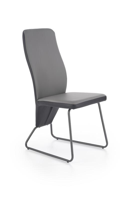 Halmar K300 stoličky zadná časť - čierna, predok - sivá, kostra - super šedá