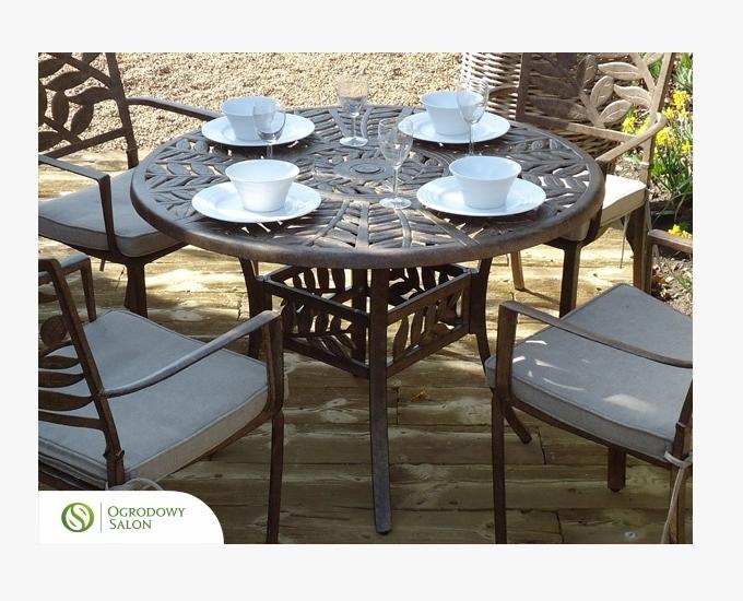 Hliníkový okrúhly stôl 106 cm Ontario