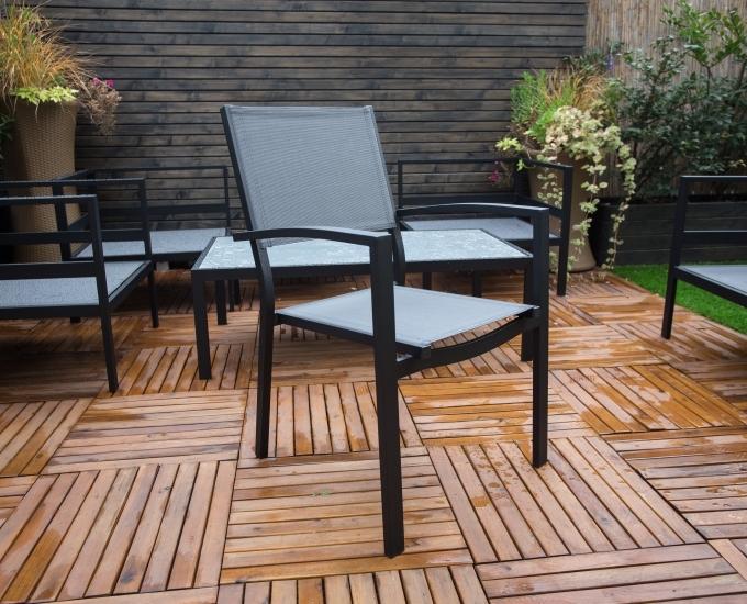 Ogrodos Čierna hliníková stoličky Toulouse