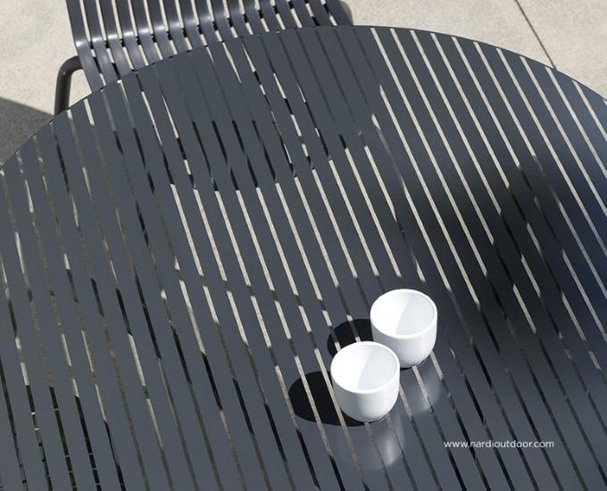 Sklenený okrúhly stôl 120 Loto Dinner: antracitový