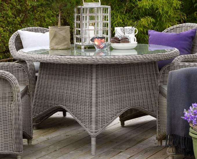 Okrúhly stôl 130 cm Technoratan Rodez: šedý technoratan
