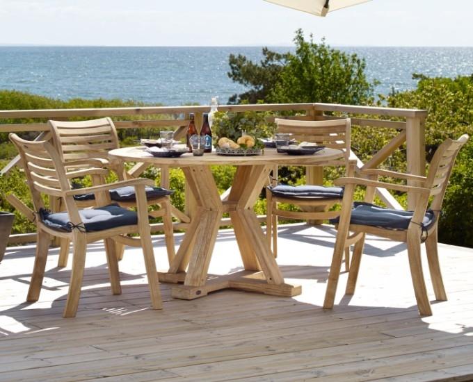 Okrúhly stôl 130 cm Teak Logrono