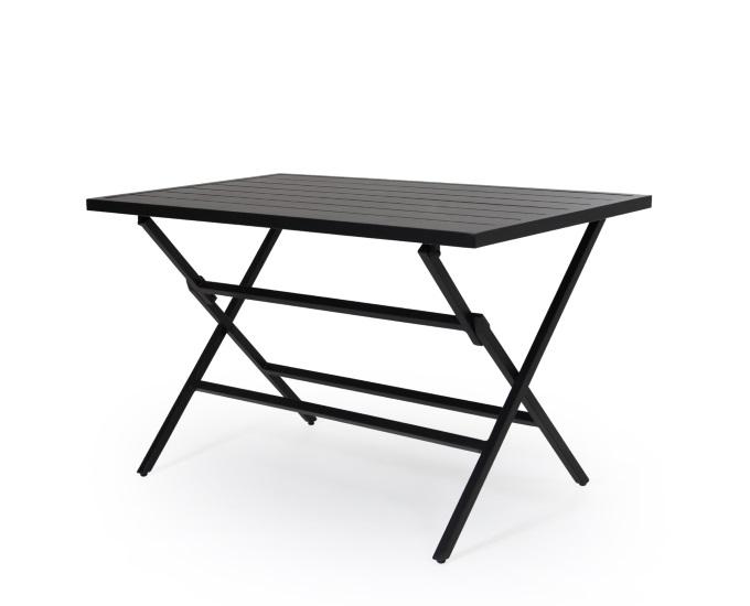 Obdĺžnikový rozkladací stolík Albi: čierny