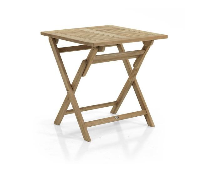 Ogrodos Rozkladací stôl hranatý 70x70 Teak Dax