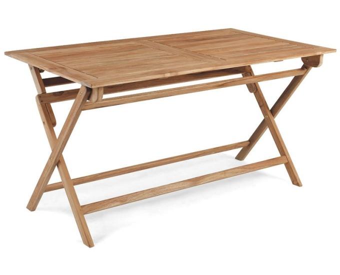Ogrodos Rozkladací stôl obdĺžnikový 140x80 Teak Dax