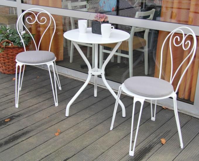 Stoličky do kaviarne Annecy: biela oceľ