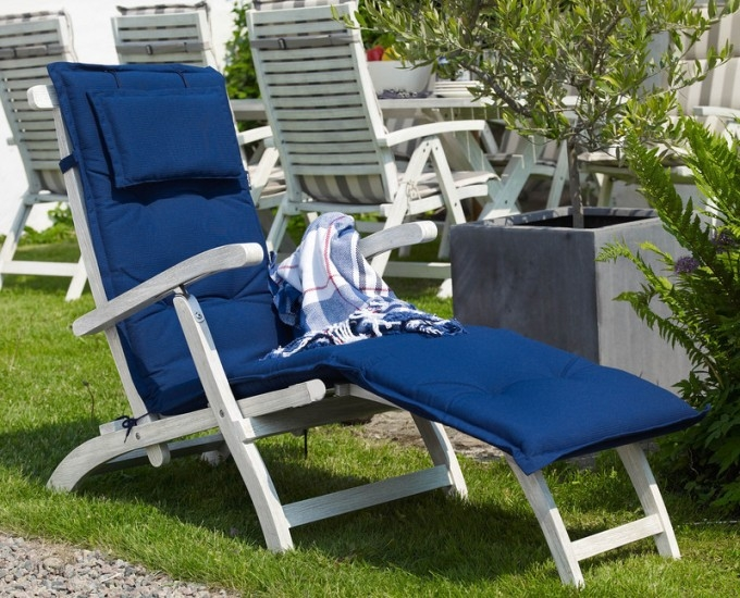 Vankúš na vstavanej stoličky 192x50: modrý