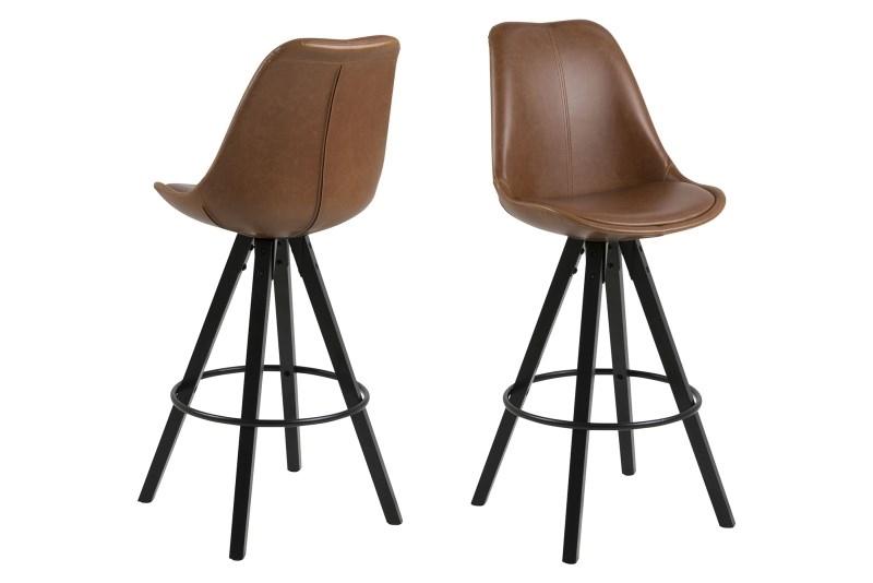 Stoličky barová Dima Brandy koženka