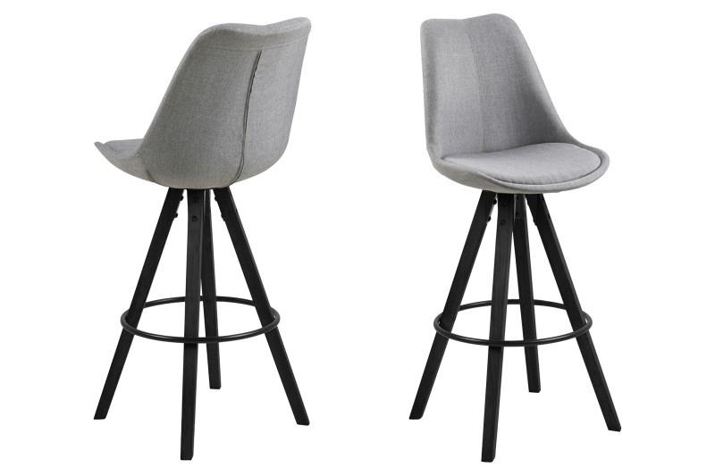 Stoličky barová Dima Melange sivý / čierny