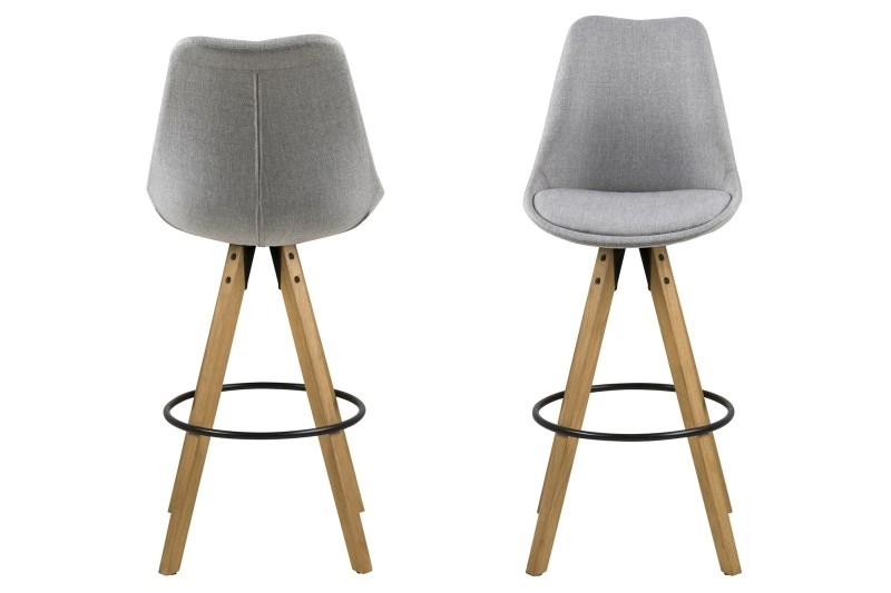 Stoličky barová Dima Melange sivý / Wood