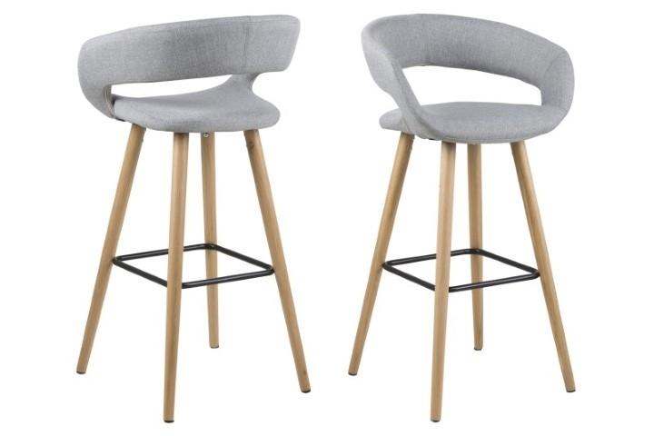 Stoličky barová Grace svetlo sivý