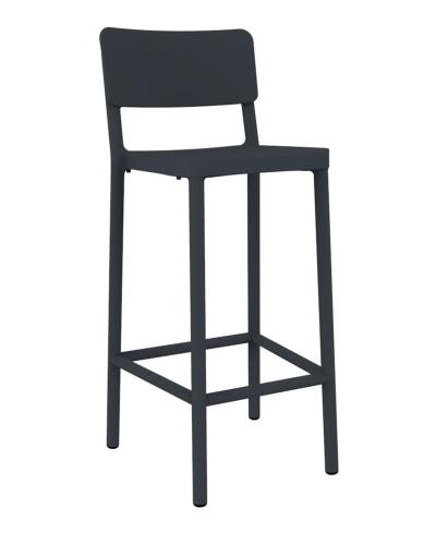 Stoličky barová Lisboa 75cm tmavosivý