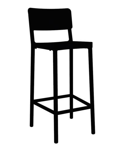 Stoličky barová Lisboa 75cm čierny