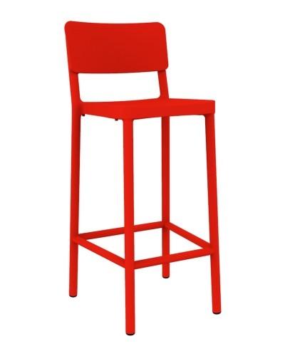 Stoličky barová Lisboa 75cm červený