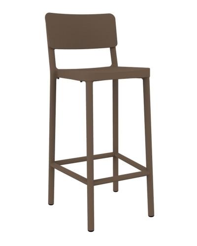 Stoličky barová Lisboa 75cm čokoládový