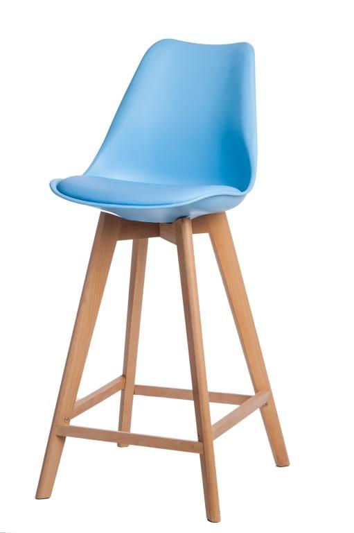 Stoličky barová Norden Wood vysoký PP svetlo modrý