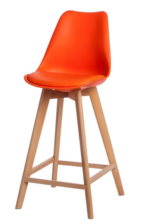 Stoličky barová Norden Wood vysoký PP oranžový