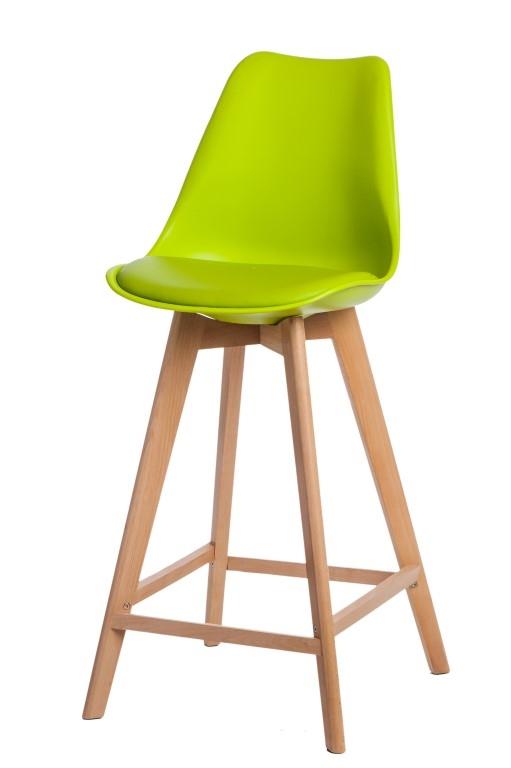 Stoličky barová Norden Wood vysoký PP svetlo zelený