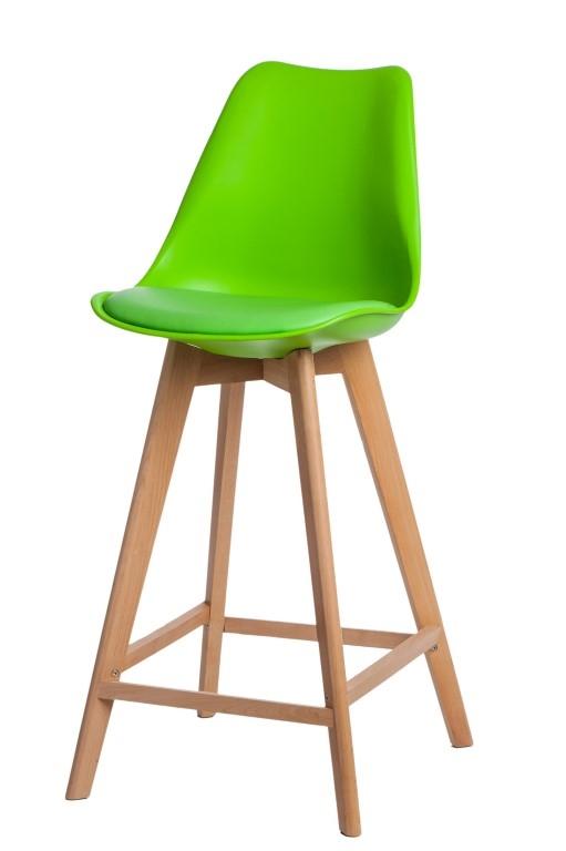 Stoličky barová Norden Wood vysoký PP zelený