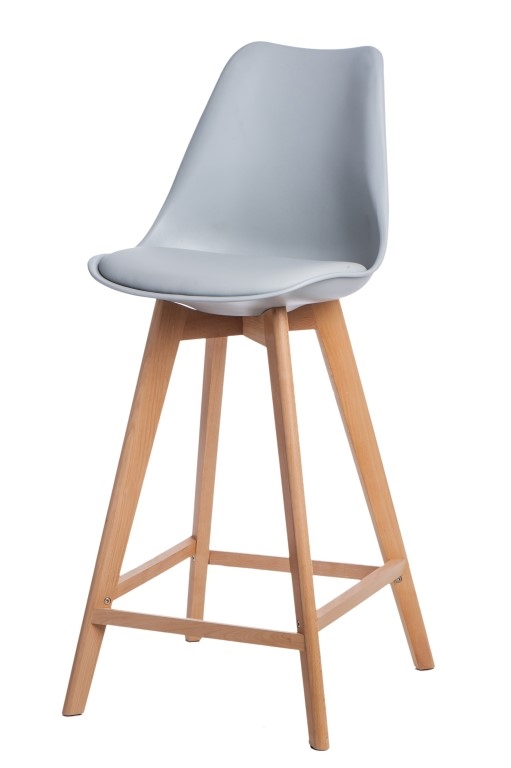 Stoličky barová Norden Wood vysoký PP šedý