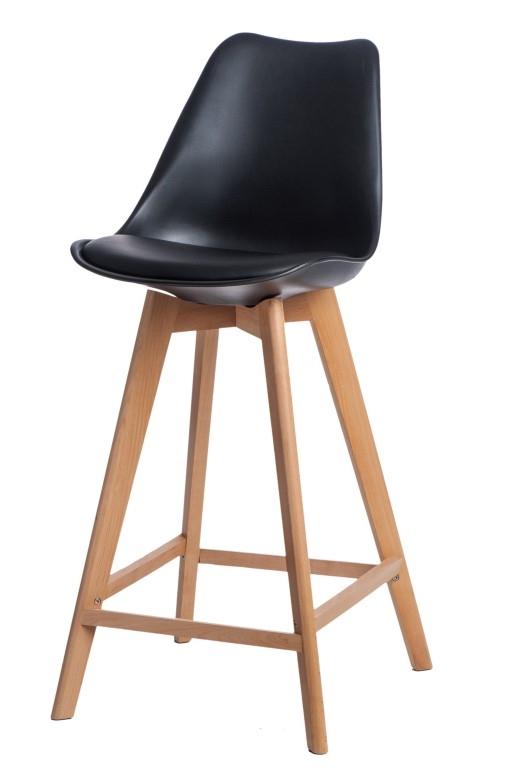 Stoličky barová Norden Wood vysoký PP čierny
