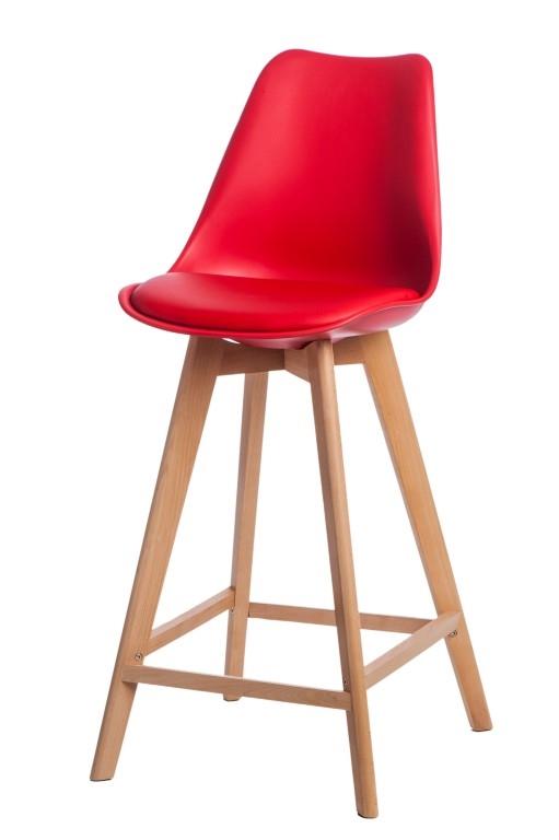 Stoličky barová Norden Wood vysoký PP červený