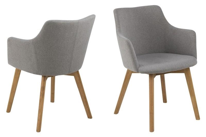 Stoličky Bella svetlo šedá