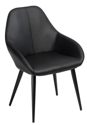 Stoličky Joy Dark hnedá PU