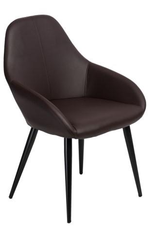 Stoličky Joy hnedá PU