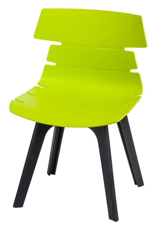 Stoličky Techno STD PP zelená