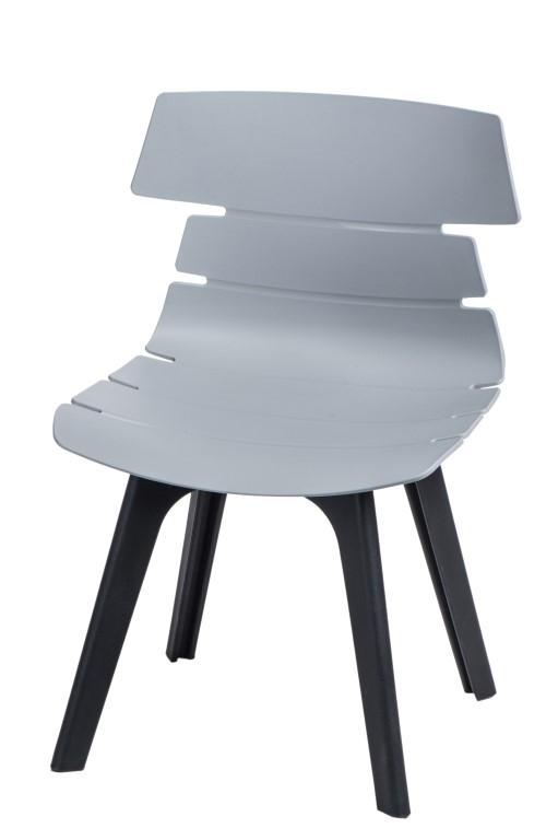 Stoličky Techno STD PP sivá