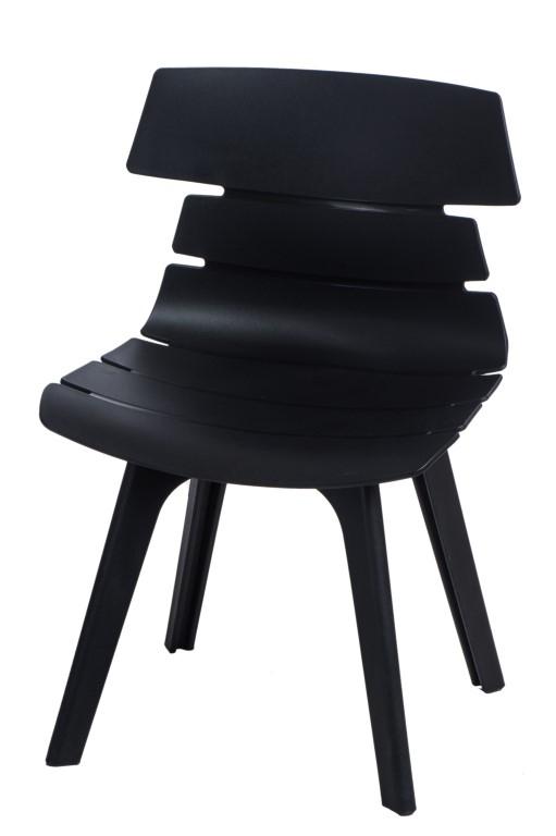 Stoličky Techno STD PP čierna