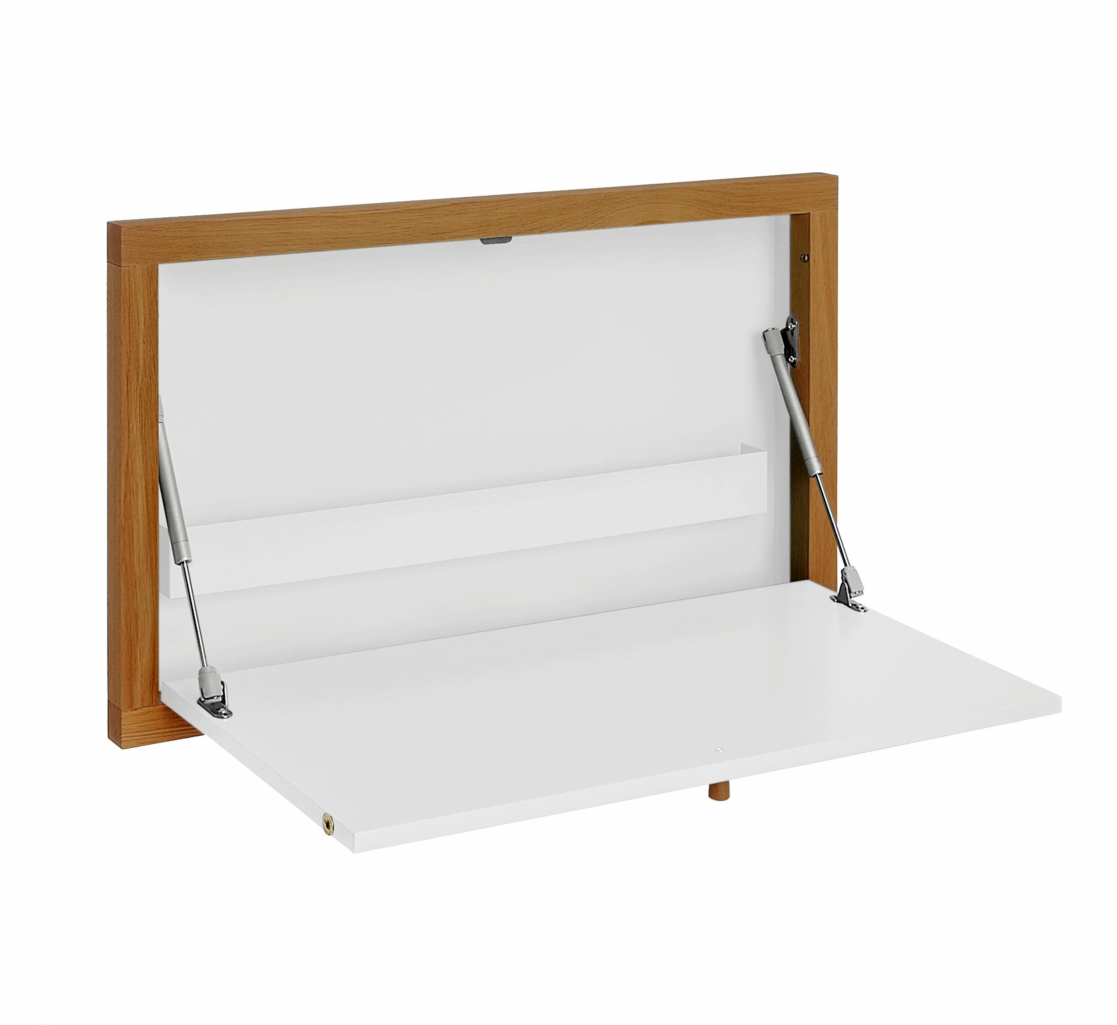 Písací stôl Brenta Wall biely