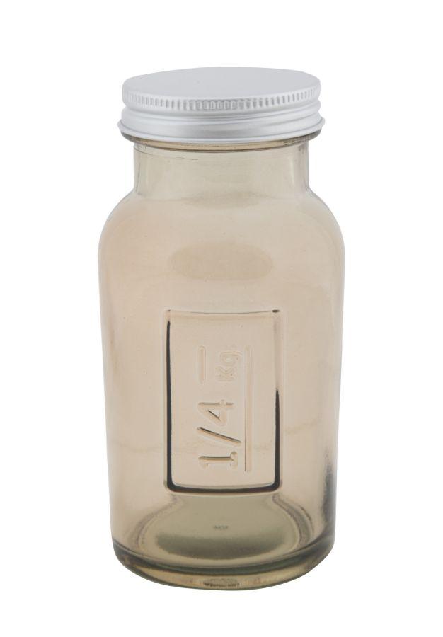 Vysoká pohára s krytím z recyklovaného skla GREY 6,5X13,5ze Španielska