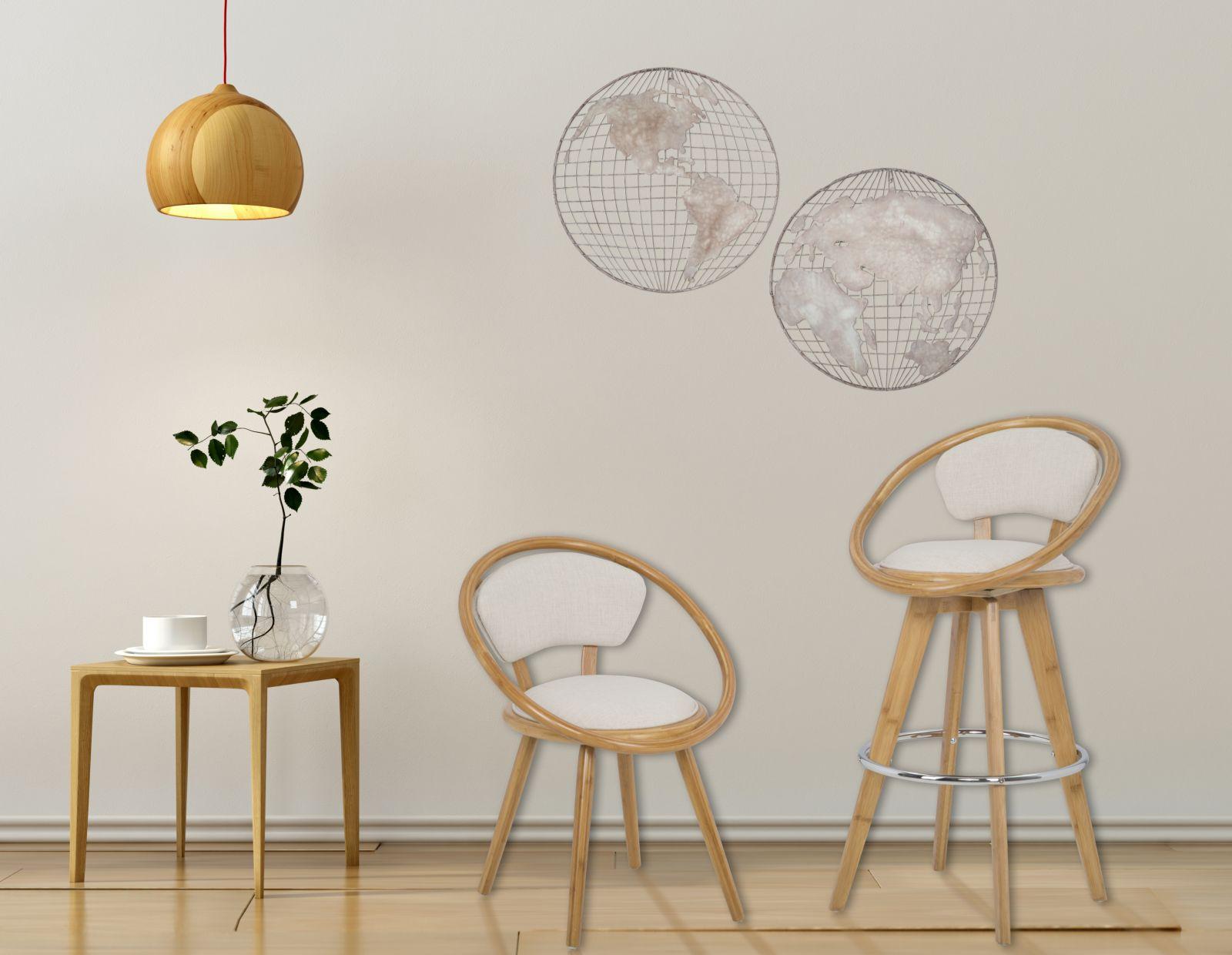 Stoličky BAMBOO (bavlnená výplň)